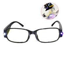 Luz led óculos de leitura clara + 1.00 1.50 2.00 2.50 3.00 3.50 4.00 diopter noite presbiopia óculos