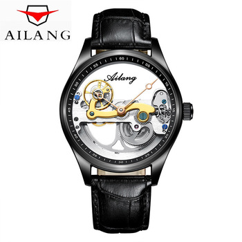 AILANG New Men Automatic Watches Top Brand Luxury Mechanical Watch Skeleton Transparent Design Sport Fashion Male WristWatch