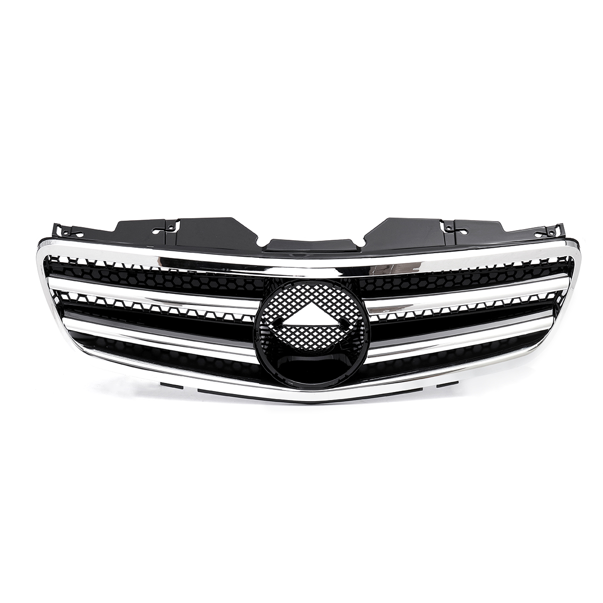 High Quality <font><b>R230</b></font> Car Front Bumper Grille Grill For <font><b>Mercedes</b></font> For Benz <font><b>SL</b></font> Class <font><b>R230</b></font> SL500 SL550 SL600 2003 2004 2005 2006 image