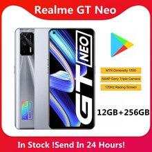 Realme GT Neo 12GB 256GB 5G akıllı telefon MTK Dimensity 1200 6.43 ''süper AMOLED ekran 4500mAh 50W süper şarj 120Hz 64MP kamera