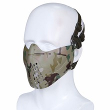 Tactical Wosport Paintball Airsoft Mask Malha Face Shield Masks For Photographing Military Hunting Pilot Protection