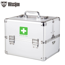 Medicine cabinet Family Multi-layer medical kits Household childrens large Emergency Vilscijon Storage boxes 3355