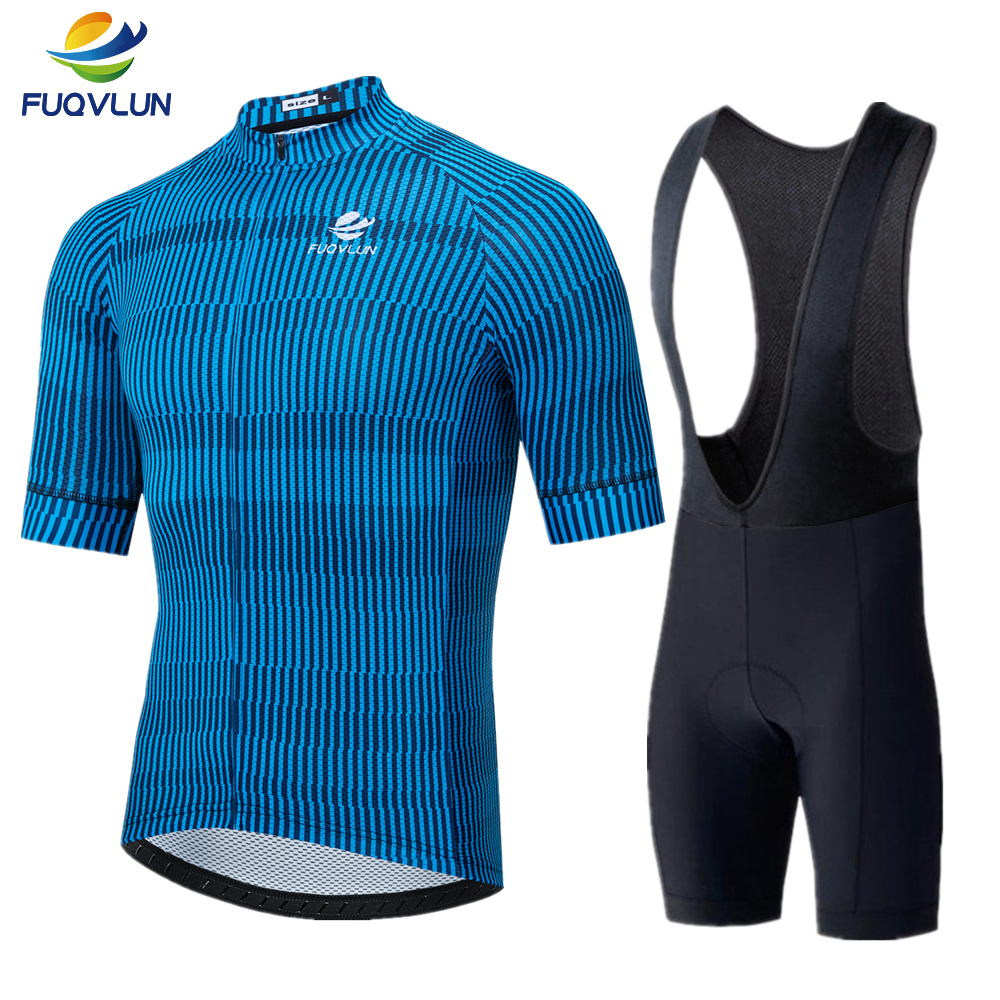 FUQVLUN Cycling Jersey Set 2019 Maillot Ropa Ciclismo Hombre Team Bicycle Clothing Quick-dry Short Sleeve MTB Bike Clothes