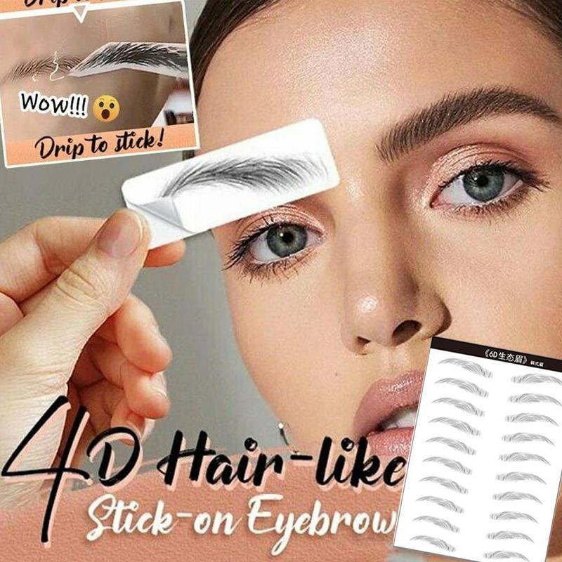 2020 4D наклейки для бровей, как у волос, ложные брови, водостойкие, стойкие, для макияжа, на водной основе, наклейки для бровей, инструменты для косметики|Трафареты для бровей|   | АлиЭкспресс