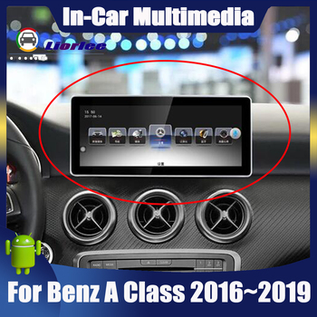 10.25 Android display For Mercede Benz A Class W176 2016~2019 Car Radio Bluetooth GPS Navigation wifi image