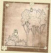 ZhuoAng  Owl And Tree Clear Stamp for Scrapbooking Rubber Stamp Seal Paper Craft Clear Stamps Card Making zhuoang peony clear stamp for scrapbooking rubber stamp seal paper craft clear stamps card making