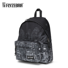 Personality Tide brand printing backpack 14 inch laptop bag ladies fashion trend college student
