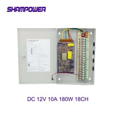 цена на CCTV Power Supply Switch 12V 10A 18CH Channel Power Supply Box for CCTV Camera Security Surveillance - CCTV Security Accessories
