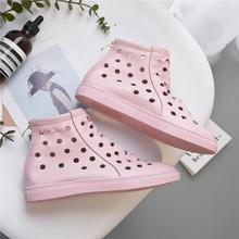 CINESSD Genuine Leather Summer Shoes Woman Sandals Female New Hollow Breathable Rear Metal Zipper Flat Sandals Women Shoes 2020 hee grand women boots for summer 2017 new solid zipper flat shoes woman split leather shoes woman sandals soft for mom xwz3957