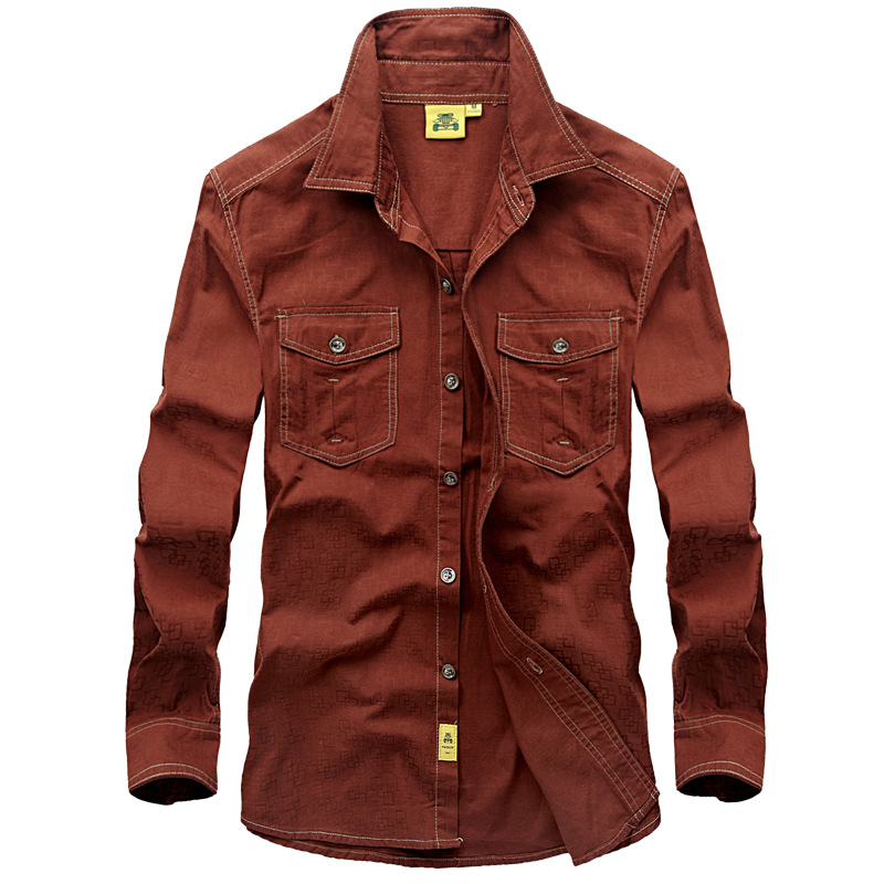 Brand Military Shirts Men Casual Long Sleeve Cotton Slim Shirts Plus Size 5XL Camisa Social Masculina Dress Uniform Army Shirts