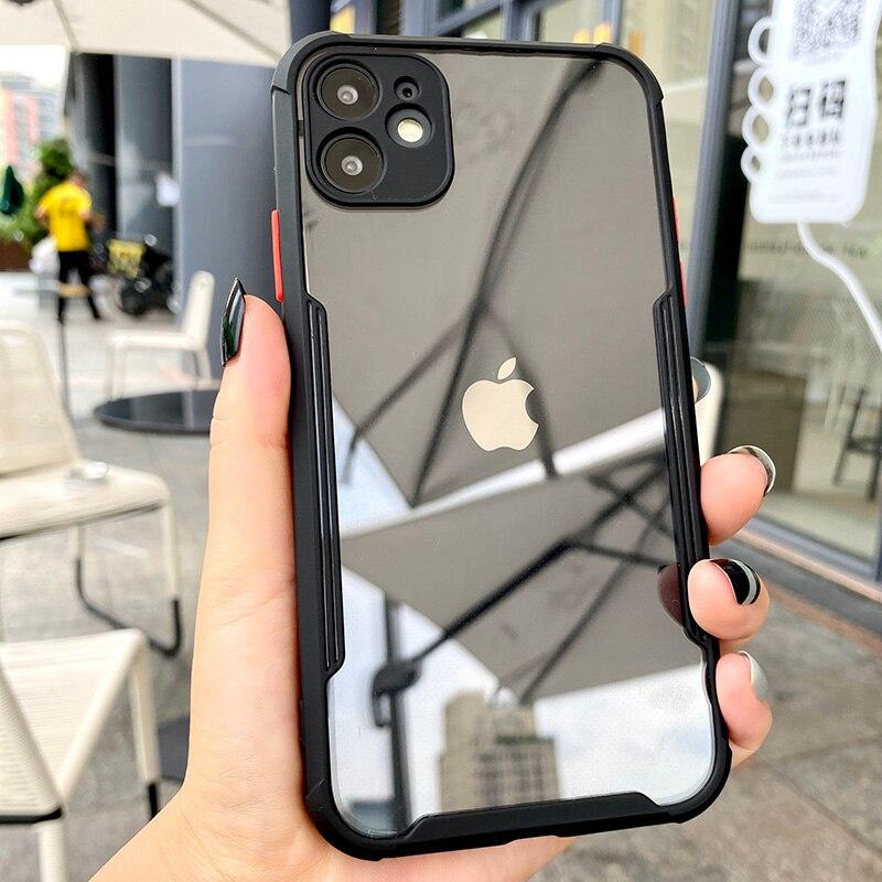 Роскошный противоударный чехол для iPhone 11 Pro Max XR X XS 7 8 Plus SE 2 2020, полностью защитный прозрачный чехол для объектива|Специальные чехлы|   | АлиЭкспресс - Топ аксессуаров для смартфонов