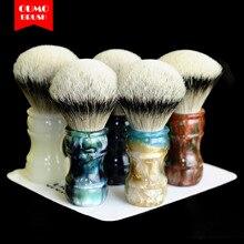 OUMO brosse de rasage, outil de rasage, avec pointe de blaireau argenté SHD HMW, 26mm 28mm