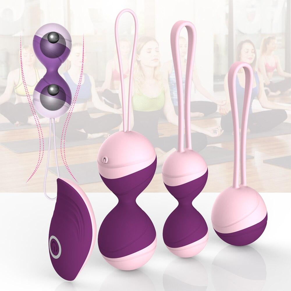 Кегелевые шарики, вибратор, вибрирующее яйцо, Секс-игрушки для женщин с дистанционным управлением, вагинальные плотные упражнения, Гейша Бе...