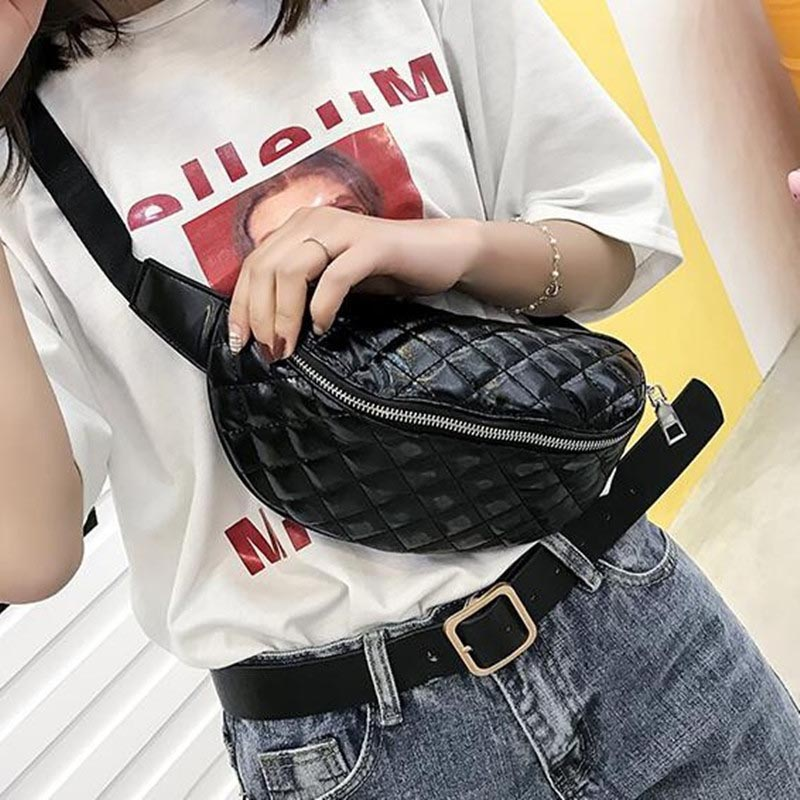Women Waist Bag Female Leather Fanny Pack Banana Bag High Capacity Chest Bag Hip Pack Belt Bags Street Kidney Crossbody Bags