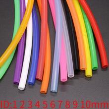 1 mètre ID 1 2 3 4 5 6 7 8 9 10 mm Tube en Silicone Flexible en caoutchouc tuyau de qualité alimentaire boisson gazeuse tuyau connecteur d'eau coloré