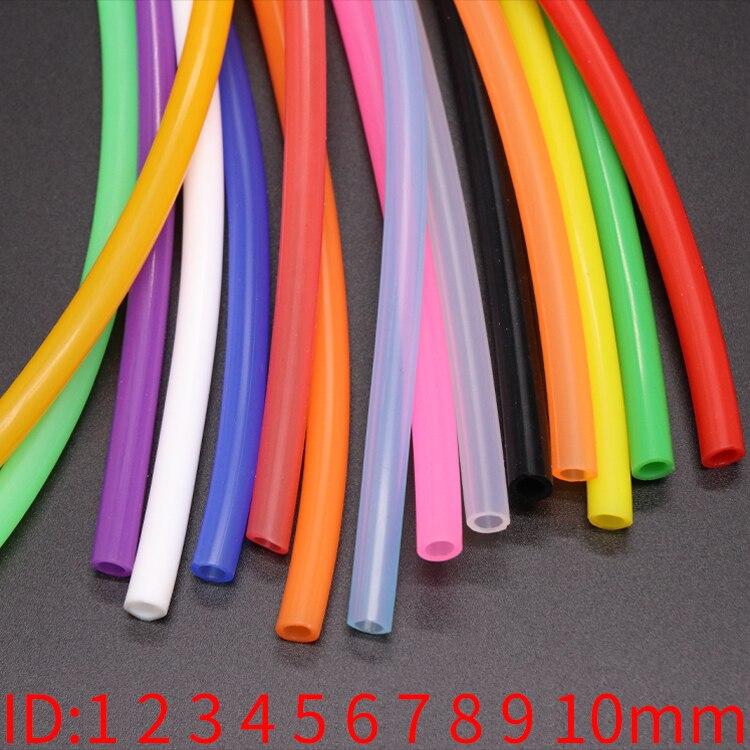 1 mètre ID 1 2 3 4 5 6 7 8 9 10 mm Tube en Silicone Flexible en caoutchouc tuyau de qualité alimentaire boisson gazeuse tuyau connecteur deau coloré