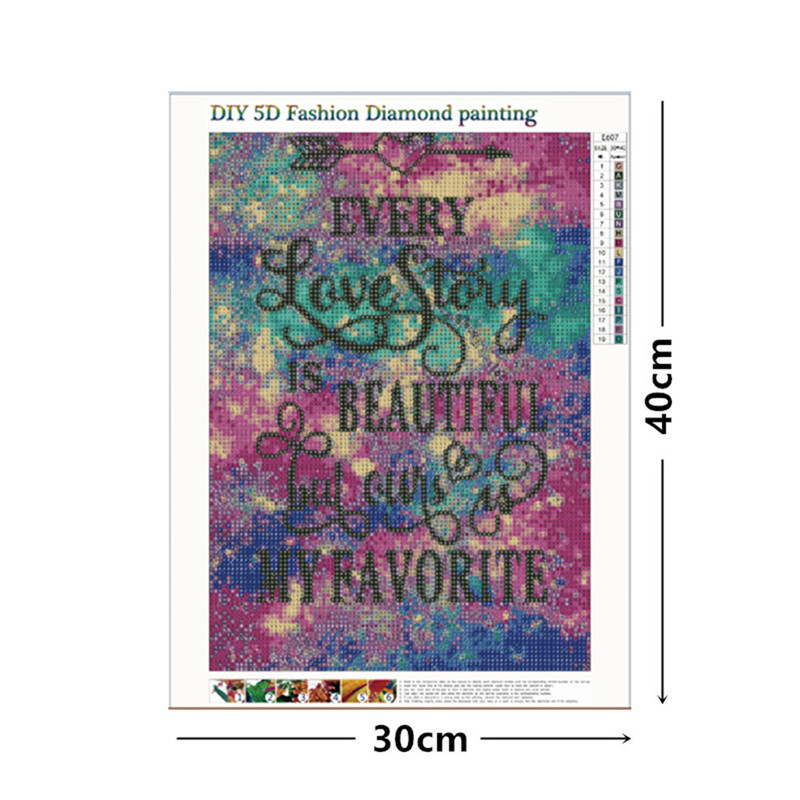 5D DIY Rhinestone Paintings Diamond Painting Cross Stitch Arts Supply 30 40cm Handwork Embroidery Home Decoration Gifts in Diamond Painting Cross Stitch from Home Garden