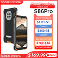 World Premiere!! DOOGEE S86 Pro Rugged Smart Phone 8GB+128GB Infrared Thermometer Mobile Phone S86 Smartphone HelioP60 Octa Core