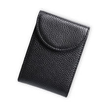 2019 New Genuine Leather Women Men Card Bag Wallet Bank Credit Card Holder Bag Business Card Holder Organizer Card Bag banjini bathroom bag bagping cotton card card card card cotton