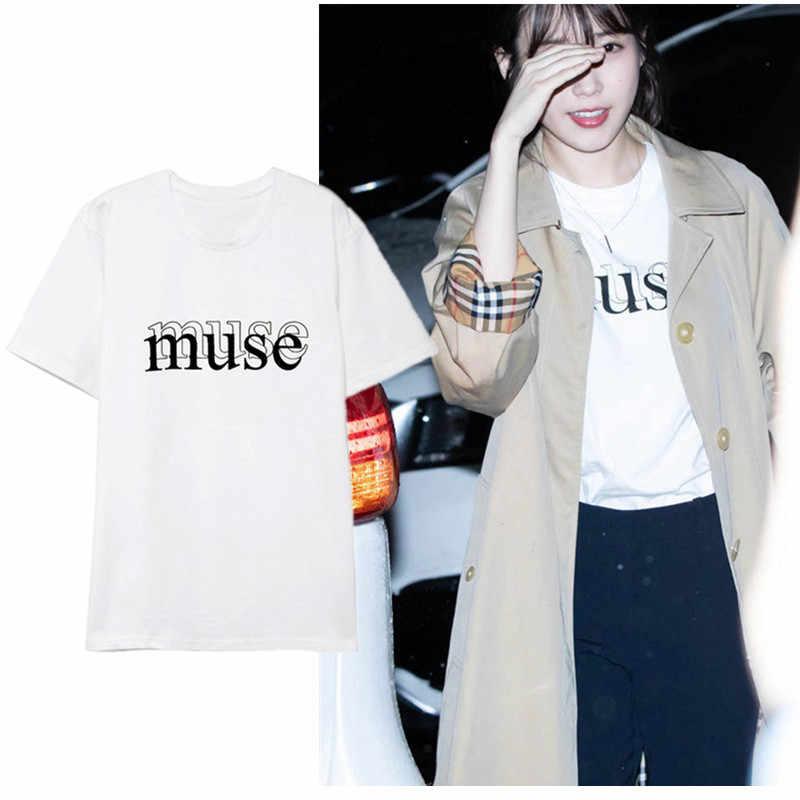 Lee Ji Eun Iu Letter Short Sleeve T Shirts Tee Women Men T Shirt Tops Couple Summer Tshirt Kpop Idol Clothes Aliexpress