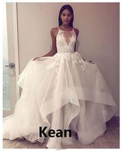 Свадебное платье на заказ пляжное с рюшами тонких бретельках