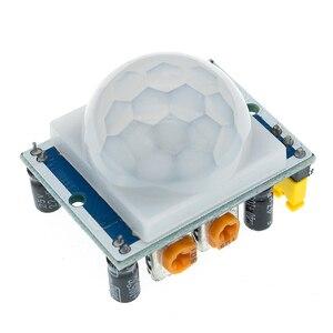 Image 5 - 무료 배송 100PCS HC SR501 적외선 IR Pyroelectric 적외선 PIR 모듈 모션 센서 감지기 모듈을 조정