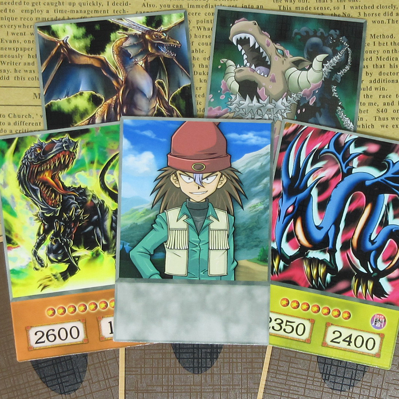 8pcs/set Rex Raptor Anime Style Cards Serpent Night Dragon Yu-Gi-Oh! Duel Monsters Classic Character Dinosaur Ryuzaki Orica