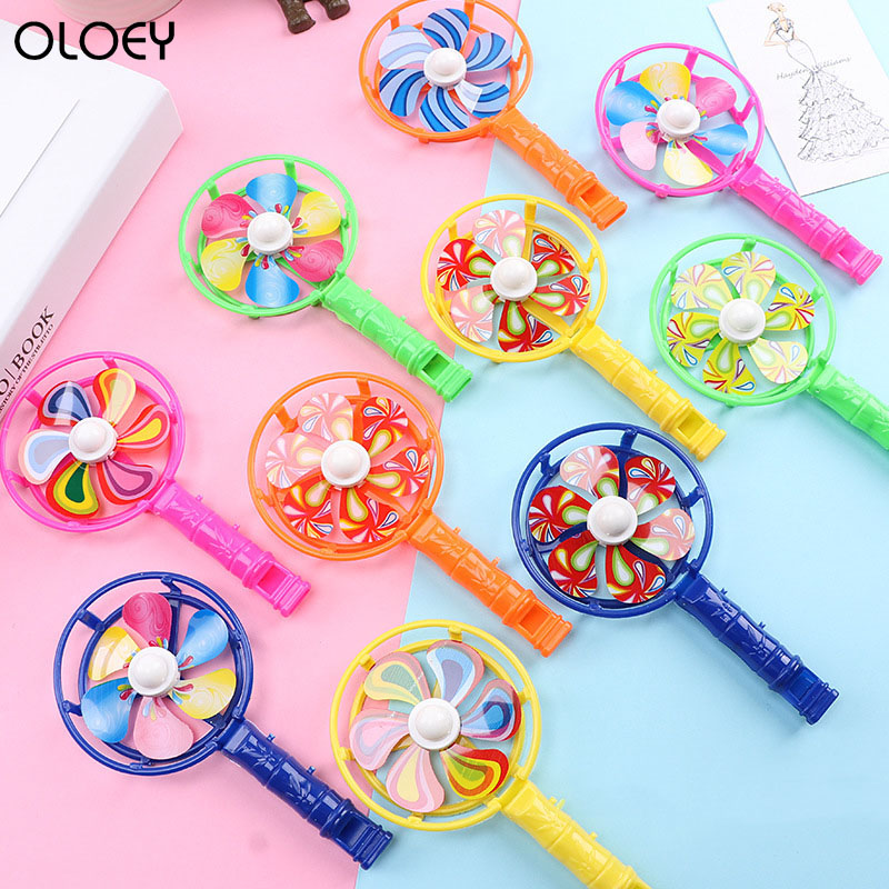 10PCChildren's Toys Classic Plastic Whistle Windmill Festival Birthday Party Gifts Children's School Gifts Toys Kids Party Gifts