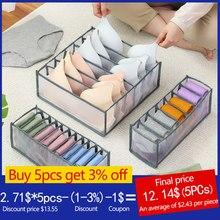 11 Grids Transparent Underwear Storage Box With Compartments Socks Bra Underpants Organizer Drawers Closet Divider Storage Box
