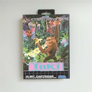 Image 1 - Toki Gehen Ape Spieß EUR Abdeckung Mit Box 16 Bit MD Spiel Karte für Megadrive Genesis Video Spiel Konsole