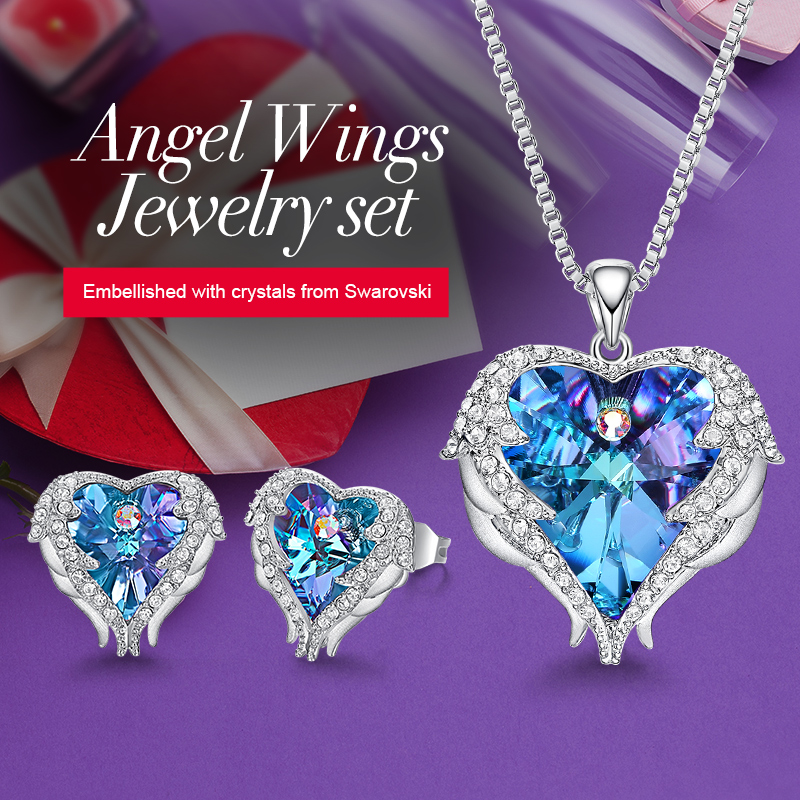 Top SaleCDE Jewelry-Set Necklace Earrings Heart-Pendant Crystals Gift Swarovski Women with Studfashion