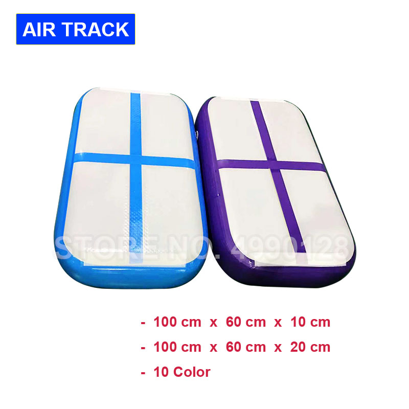 Free Shipping AirTrack 1X0.6X0.1M Air Track Inflatable Gymnastic Mattress Gym Tumble Floor Tumbling Air Block Mat Yoga Mat