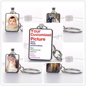 Custom Keychain Photo Key Chains Non-faded Customized Key Ring Photo of Your Baby Child Mom Dad Family Loved One Gift