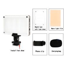 調光対応 led ビデオライト usb 充電ミニポータブル屋外の写真撮影の照明補助光カメラ写真スタジオライト