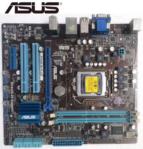 Asus P7H55-M PLUS Desktop Motherboard H55 Socket LGA 1156 I3 I5 I7 DDR3 16G U ATX  Original Used Mainboard PC