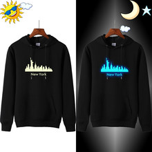 New York Hoodie Nordic Stil Mens Hoodies Beiläufige Moletom Nacht Club Glow in Dark Sweatshirt Männer Sudadera Hombre Con Capucha(China)