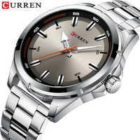 Marca de lujo relojes grises CURREN para hombre reloj de pulsera de negocios de cuarzo reloj de moda Reloj clásico de acero reloj para hombres