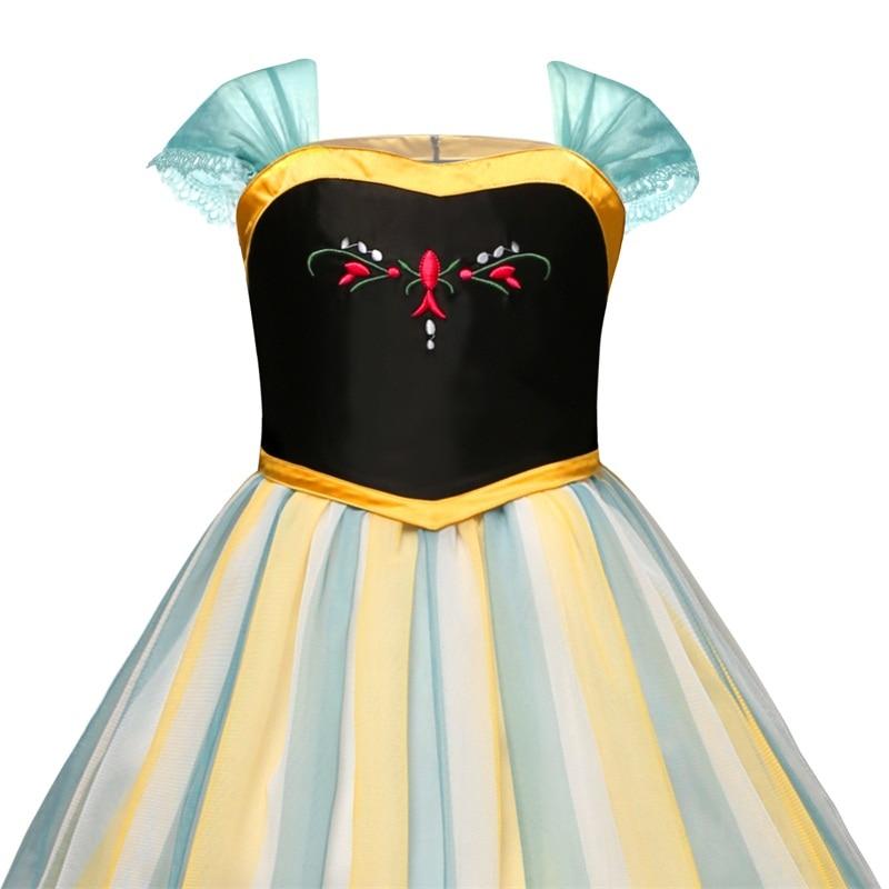 H3fd42ef5e4d3423e88562b3b2cc79da7D Girls Elsa Dress Costume Princess Anna Dresses Cosplay Party Summer Baby Kids Children Fancy Baby Girl Clothes elza vestidos