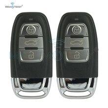 Remtekey 2pcs smart remote car key 8T0959754C 434Mhz 3button for Audi A4 A6 Q5 include key insert remtekey