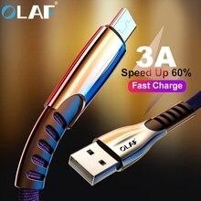 אולף מיקרו USB כבל 3.0A מהיר טעינת מיקרו usb מטען כבל עבור סמסונג S7 S6 J7 Xiaomi Redmi הערה 5 4 אנדרואיד טלפון כבלים