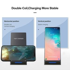 Image 2 - Беспроводное зарядное устройство DCAE 15 Вт, подставка для iPhone SE 2 11 Pro Max XS XR X 8 USB C Qi, док станция для быстрой зарядки для Samsung S20 S10 S9