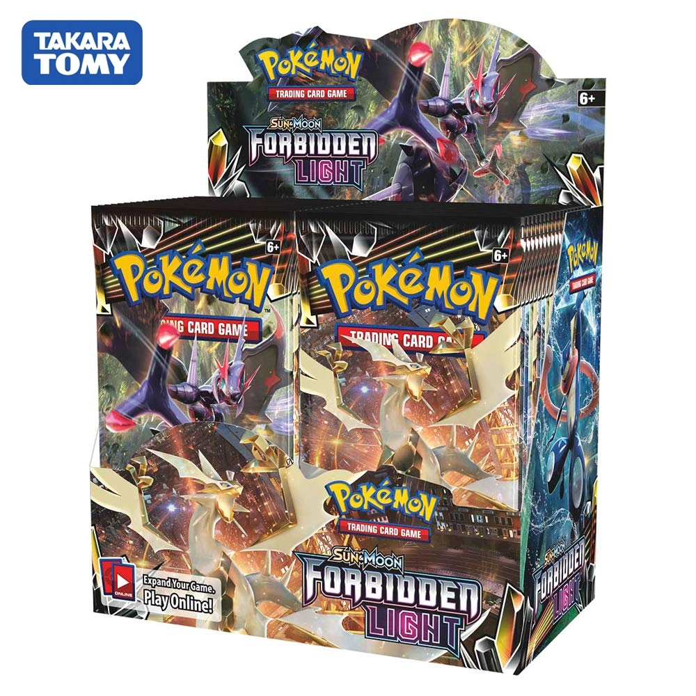 324pcs Pokemon Cards TCG: Sun & Moon Forbidden Light Booster Box Collectible Trading Card Game Kids Toys