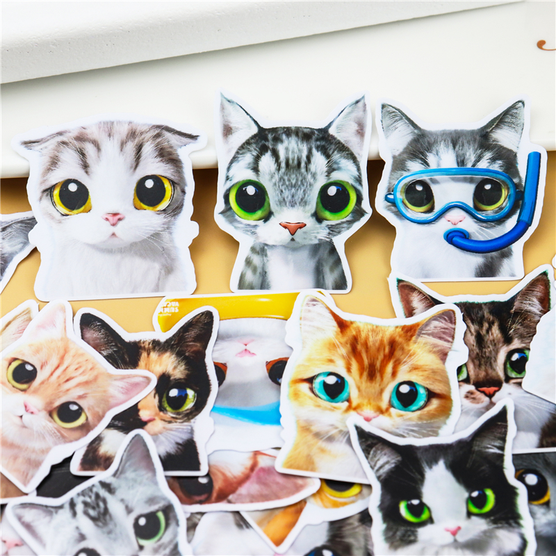30Pcs/set Cartoon Cat Sticker DIY Craft Scrapbooking Album Junk Journal Planner Decorative Stickers Planner Diary Decorative