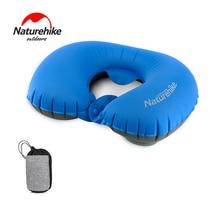 Naturehike Press Inflatable U Pillow Travel Air Neck Pillow Portable Foldable Comfort Outdoor Camping Pillow Cushion Protective