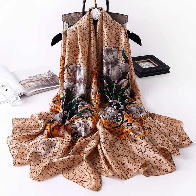 2020 nova marca de luxo lenço de seda mulheres praia xale envoltório feminino cachecóis de caxemira chiffon hijab poncho inverno capa cobertor cachecol