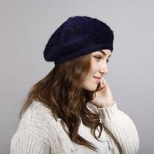Винтажная однотонная Шапка берет облегающая шапка во французском