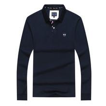 Polo à manches longues pour homme, haut de bureau, Eden Park, en pur coton, taille M à 3XL, haute qualité, avec lettre 10, printemps 2021