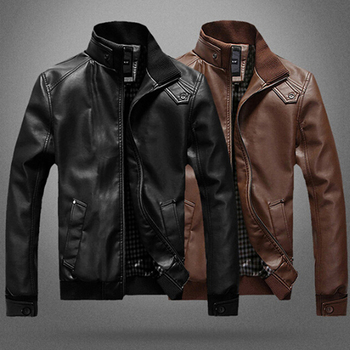 2021 High Quality Mens Leather Jackets Classic Motorcycle Jacket Male Plus Faux Leather Jacket Men Autumn Winter Vintage Outwear