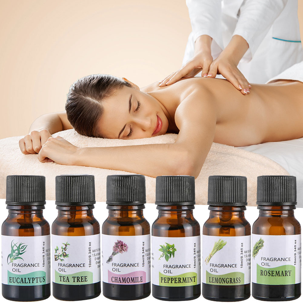 10ml Plant Essential Oil Relieve Stress Water-soluble Flower Fruit Essential Oil Humidifier Freshening Aromatherapy skin care
