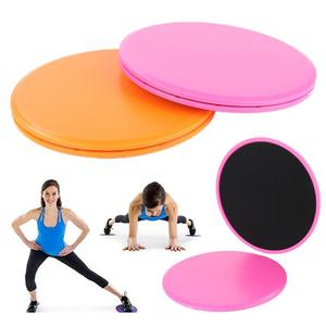 2Pcs Gliding Discs Slider Fitness Disc Gym Accessories Exercise Sliding Plate For Yoga Gym Abdominal Core Training Sport Gear ED